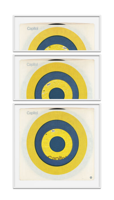 Natalie Czech, 'A poem by repetition by Larry Eigner (Capitol yellow target)', 2021