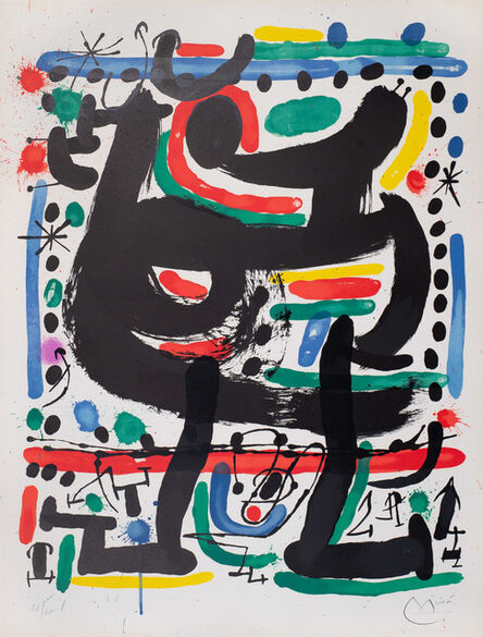 Joan Miró, 'Opening of the Mourlot Atelier in New York', 1967