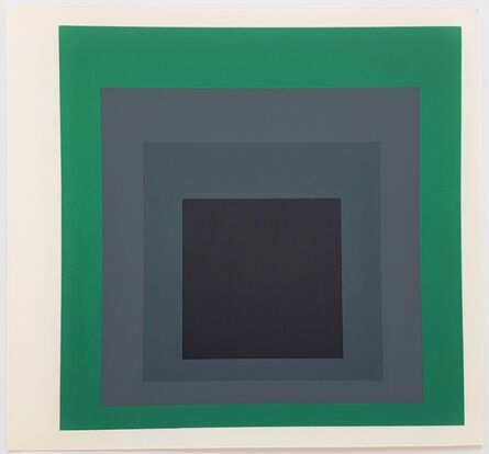 Josef Albers, 'Homage to the Square: Grisaille and Patina ', 1977