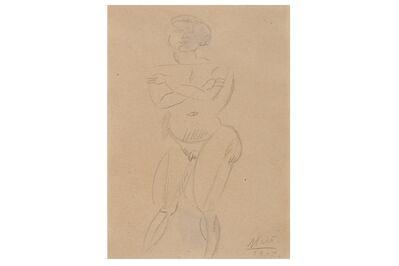 Joan Miró, 'Nu Debout - Drawing', 1917
