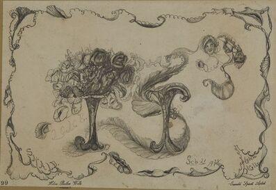 """Helen Butler Wells, 'Spirit Drawing #99 - """"Lane""""', 1928"""