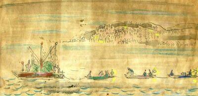 Nachum Gutman, 'Fishing Boats at the sea of Galilei', 20th century