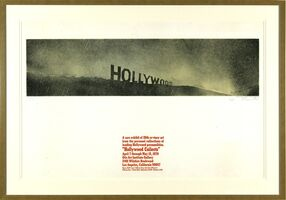 Ed Ruscha, 'Hollywood in the Rain, Hollywood Collects', 1970