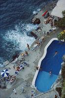Slim Aarons, 'Pool On Amalfi Coast', 1984