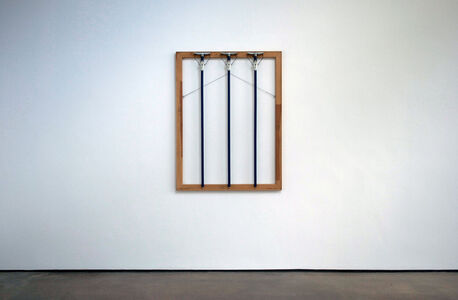 B. Wurtz, 'Three Blue Mops, 1986 127 x 97,5 x 7,6 cm 50 x 38 x 3 inches', 1986