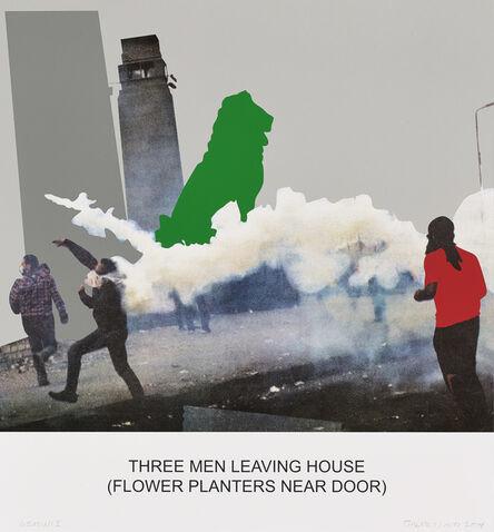 John Baldessari, 'The News: Three Men Leaving House...', 2014