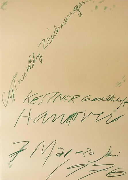 Cy Twombly, '1970s Cy Twombly exhibition poster', 1976