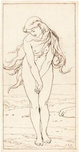 John Dawson Watson, 'Standing Nude with Crossed Arms', 1879