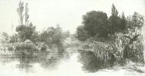 Francis Seymour Haden, 'Shere Mill Pond, No. II (L' Étang au Canard)', 1860
