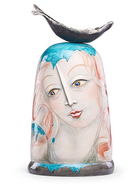 """Patti Warashina, 'Large lidded jar """"Venus"""", Seattle, WA', 1990"""