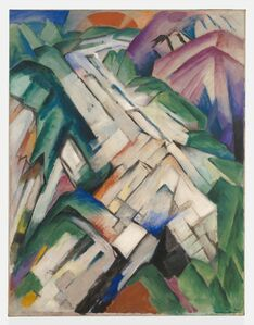 Franz Marc, 'Steiniger Weg (Stony Path), formerly Gebirge/Landschaft (Mountains/Landscape)', 1911/1912