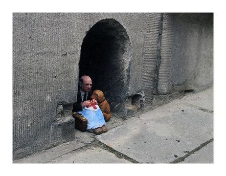 Isaac Cordal, 'Homeless.. Brussels Belgium', 2012