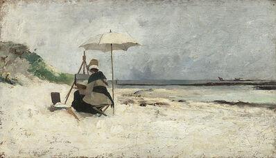 Emma Löwstädt-Chadwick, 'Beach Parasol, Brittany (Portrait of Amanda Sidwall)', 1880
