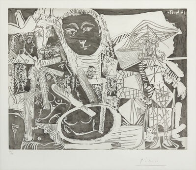 Pablo Picasso, 'Arlequin et Personnages Divers, from 347 Series', 1968