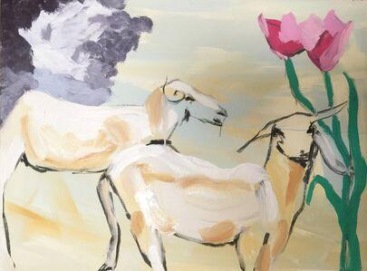 Claudia Doring Baez, 'Patti Smith Land 250: Chèvre Mère, Senegal; Tulips, NY', 2018