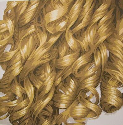 Julia Jacquette, 'Hair (Blonde Curls)', 2008
