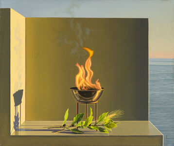 David Ligare, 'Still Life with Fire, Laurel, and Wheat', 2006