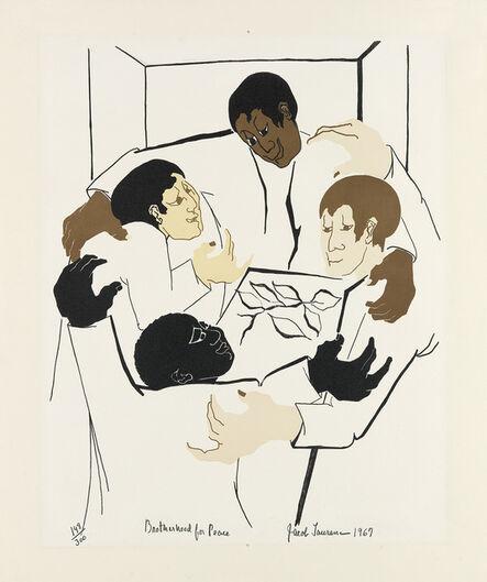 Jacob Lawrence, 'Brotherhood for Peace.', 1967