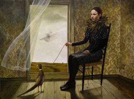 Andrea Kowch, 'Pheasant Keeper -1st Limited Edition Framed Hand Signed Print', 2020