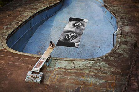JR, '28 Millimètres, Women are Heroes, Swimming Pool, Intercontinental Hotel, Horizontal, Monrovia, Liberia', 2008