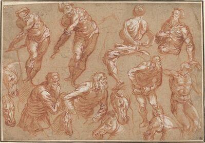 Bartholomaeus Spranger after Jacopo Tintoretto, 'Figure Studies', 1565/1575