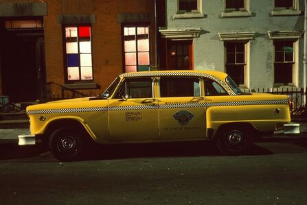 Langdon Clay, 'Hellofa Cab, Checker Marathon Yellow Cab, West Village', 1975