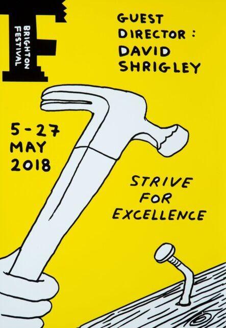 David Shrigley, 'Strive for Excellence', 2020