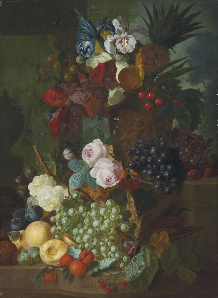 Jan van Os, 'Still life of flowers and fruit'