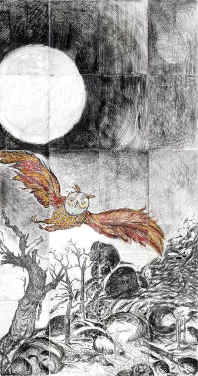 Daniel Heyman, 'Winter: Artist Engages (left panel detail)', 2012