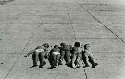 George Krause, 'Five Boys on Sidewalk, Philadelphia', 1965 / 1965c