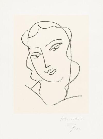 """Henri Matisse, 'Study for the Virgin """"Veiled Head""""', 1950-51"""