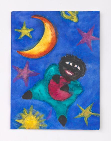 Betye Saar, 'Floating Doll with Ball in the Galaxy', 2020