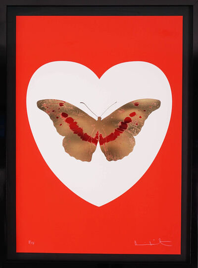 Damien Hirst, 'I Love You Red/Gold Butterfly ', 2015