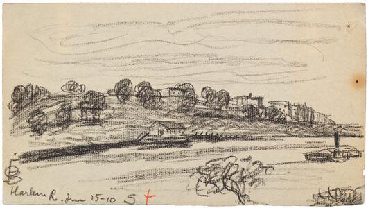 Oscar Bluemner, 'HARLEM R. JUNE 15-10', 1910