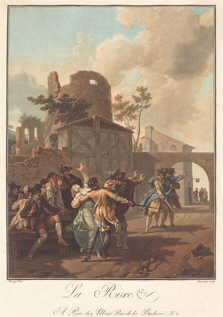 Charles-Melchior Descourtis after Nicolas Antoine Taunay, 'La Rixe (The Brawl)', ca. 1792