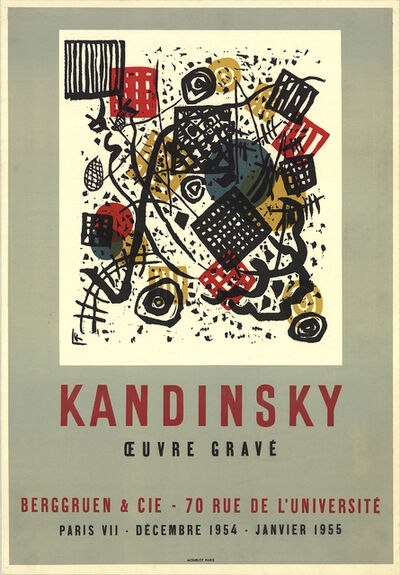Wassily Kandinsky, 'Engraved Work', 1954