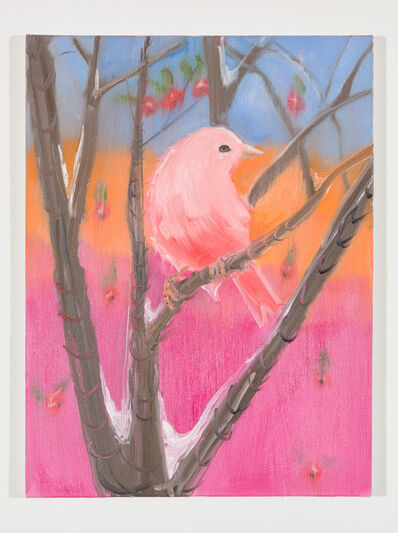 Ann Craven, 'Pink Canary (Stepping Out in Snow at Sunset), 2018', 2018