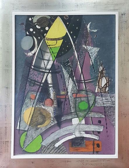 Max Ackermann, 'untitled (theme: Über den Türmen)', 1940