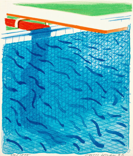 David Hockney, 'Pool Made with Paper and Blue Ink for Book, from Paper Pools (M.C.A.T. 234)', 1980