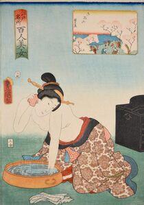 Utagawa Toyokuni III (Utagawa Kunisada), 'Gotenyama', 1858