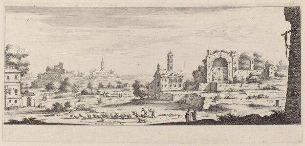 François Collignon after Israël Silvestre, 'Veue de temple de Soleil à Rome'