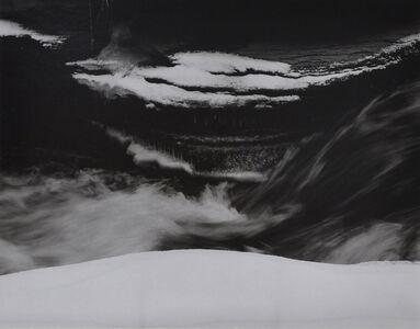 Minor White, 'Snow & Running Water', 1960