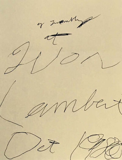 Cy Twombly, 'CY Twombly Yvon Lambert poster 1980', 1980
