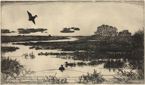 Frank Weston Benson, 'Essex Marshes.', 1930