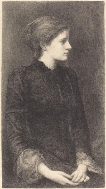 M.G. Fuchs after Sir Edward Coley Burne-Jones, 'Mrs. Bonham', ca. 1902