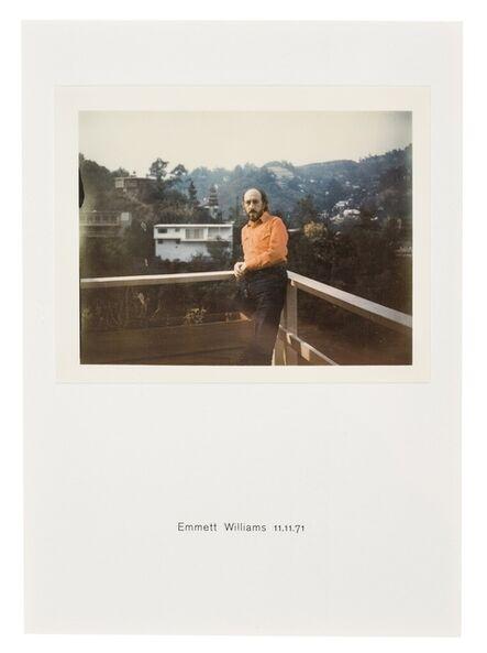 Richard Hamilton, 'Polaroid Portrait, Emmett Williams 11.11.71'
