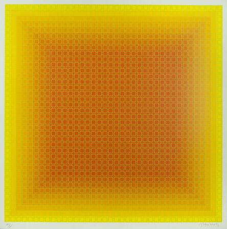 Julian Stanczak, 'Yellow Filtration', 1980