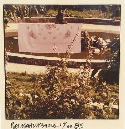 Robert Rauschenberg, 'Study for Chinese Summerhall (Pink Flower Sheet)', 1983