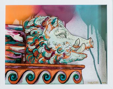 Whitney Pintello, 'Cinghiale- Reverse Glass Greek Mythology Painting', 2020