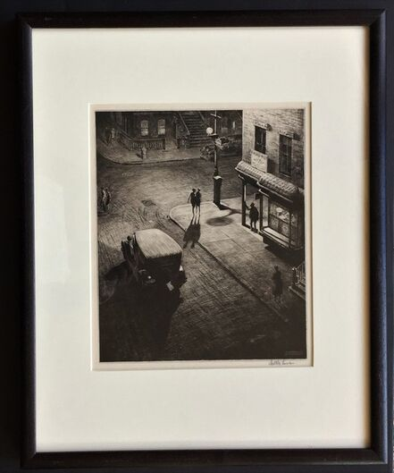 Martin Lewis, 'Relics (Speakeasy Corner)', 1928